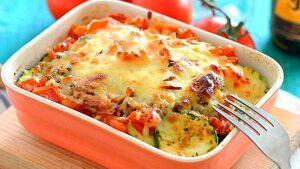 atun fresco con verduras al horno