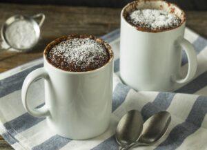brownie en microondas en taza