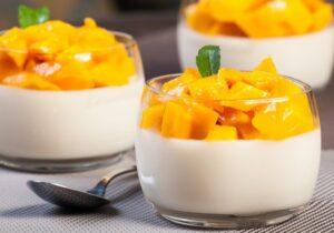 mousse de mango sin horno y sin huevos